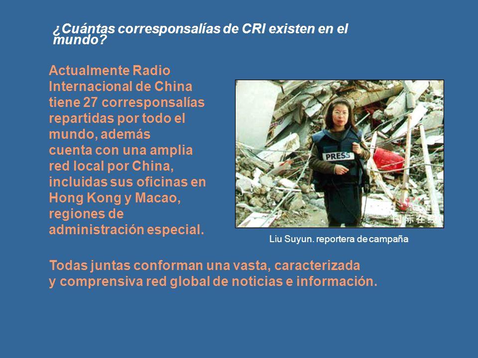 ¿Cuántas corresponsalías de CRI existen en el mundo