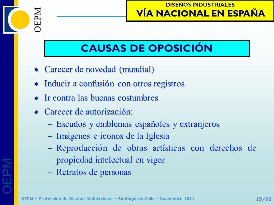 CAUSAS DE OPOSICIÓN VÍA NACIONAL EN ESPAÑA