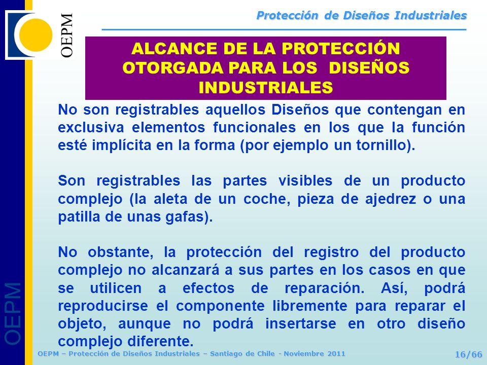 ALCANCE DE LA PROTECCIÓN OTORGADA PARA LOS DISEÑOS INDUSTRIALES