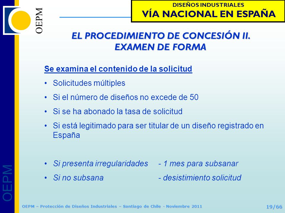 EL PROCEDIMIENTO DE CONCESIÓN II. EXAMEN DE FORMA
