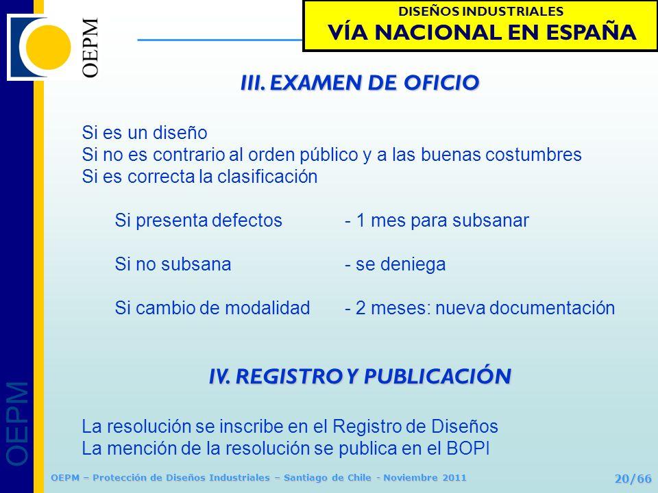 IV. REGISTRO Y PUBLICACIÓN