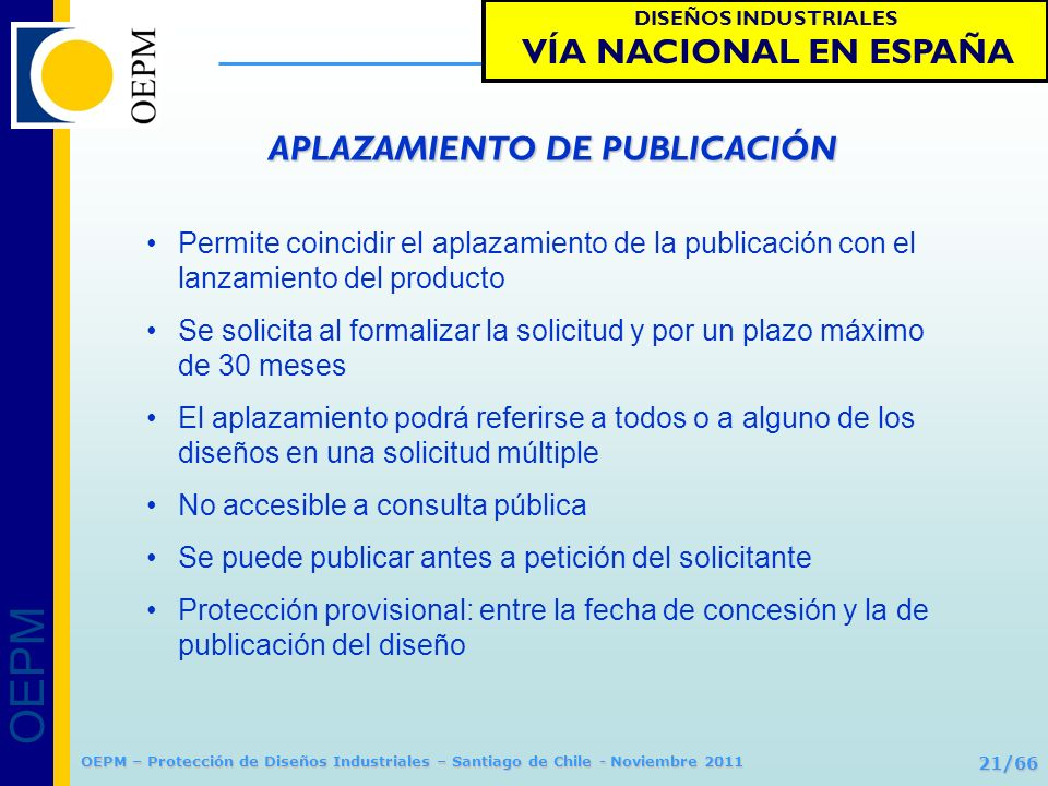 APLAZAMIENTO DE PUBLICACIÓN