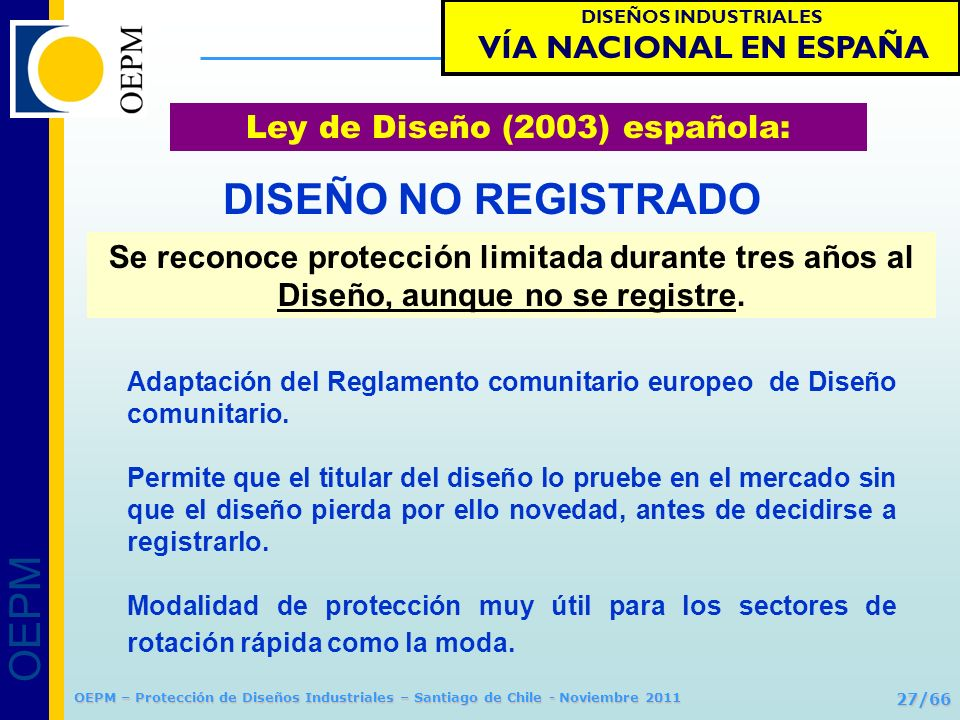 Ley de Diseño (2003) española:
