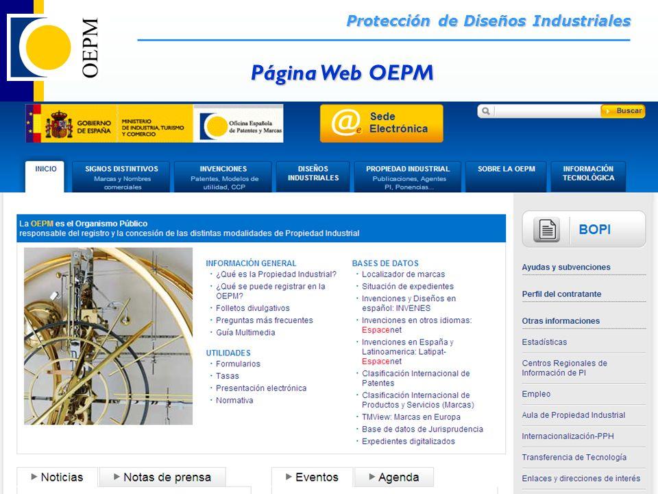 Página Web OEPM