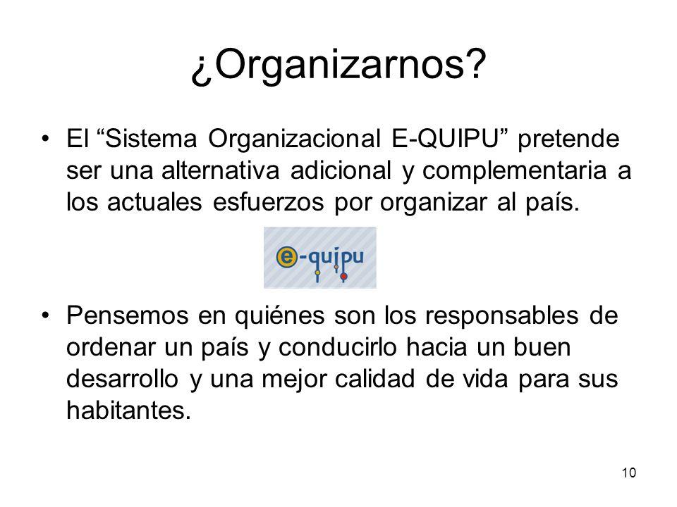 ¿Organizarnos