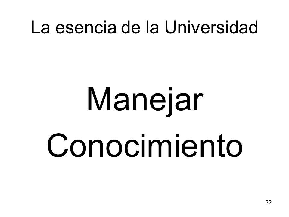 La esencia de la Universidad