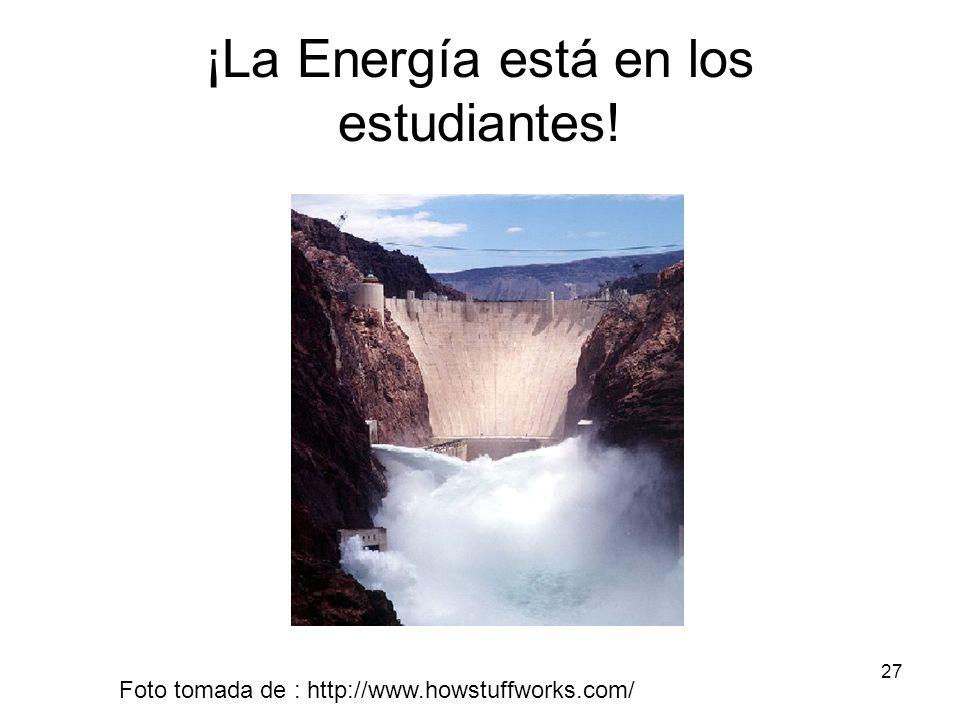 ¡La Energía está en los estudiantes!