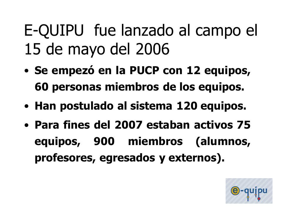 E-QUIPU fue lanzado al campo el 15 de mayo del 2006