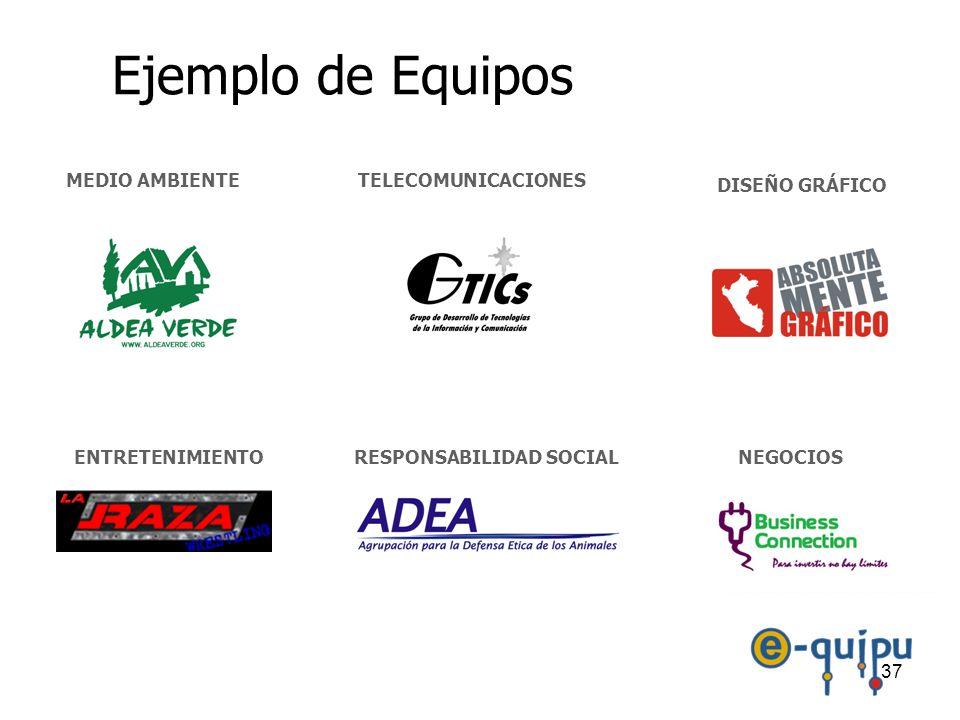 Ejemplo de Equipos MEDIO AMBIENTE TELECOMUNICACIONES DISEÑO GRÁFICO