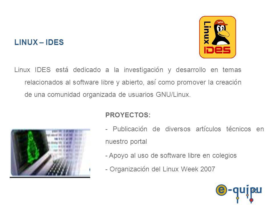 LINUX – IDES