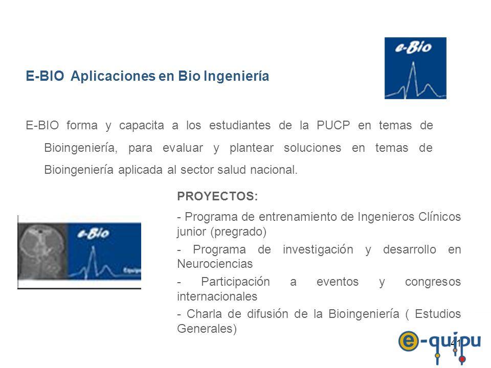 E-BIO Aplicaciones en Bio Ingeniería