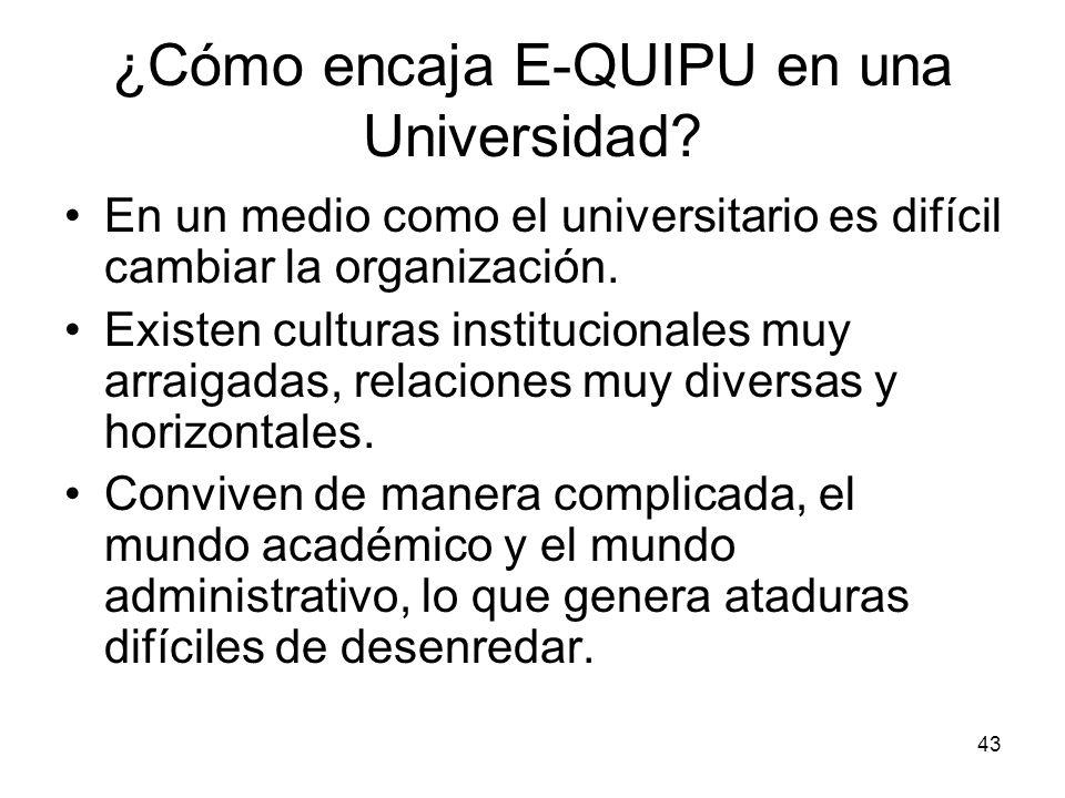 ¿Cómo encaja E-QUIPU en una Universidad