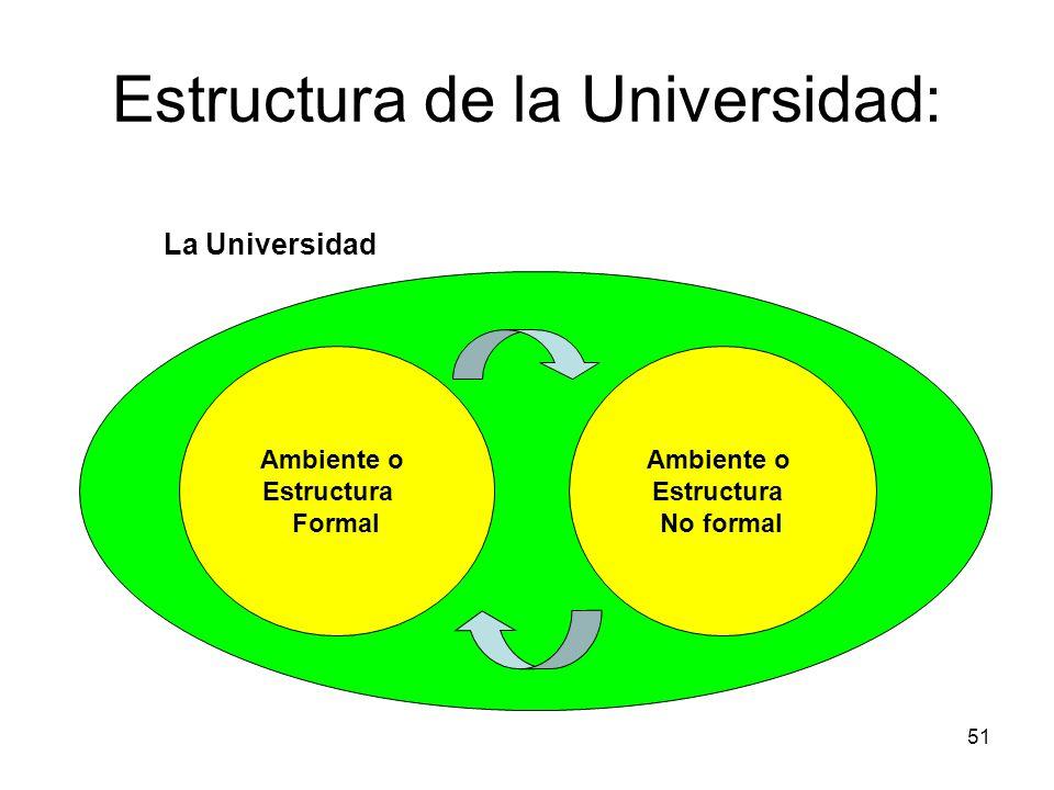 Estructura de la Universidad: