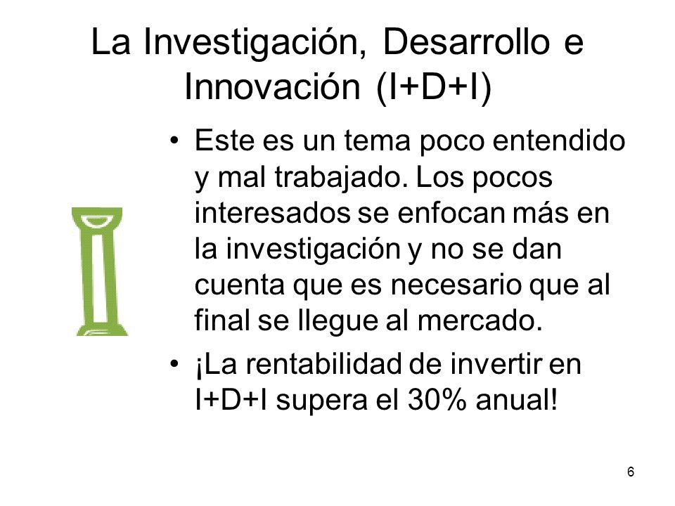 La Investigación, Desarrollo e Innovación (I+D+I)