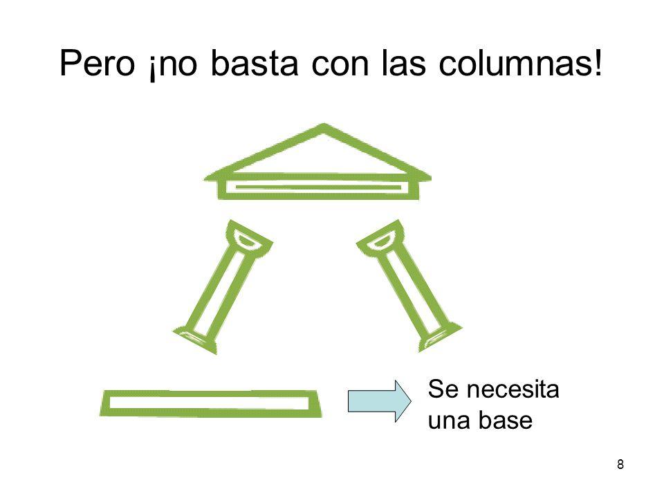 Pero ¡no basta con las columnas!