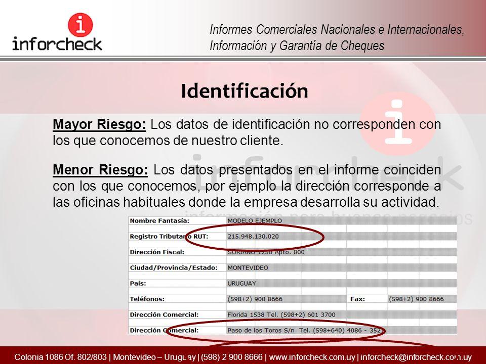 Informes Comerciales Nacionales e Internacionales, Información y Garantía de Cheques