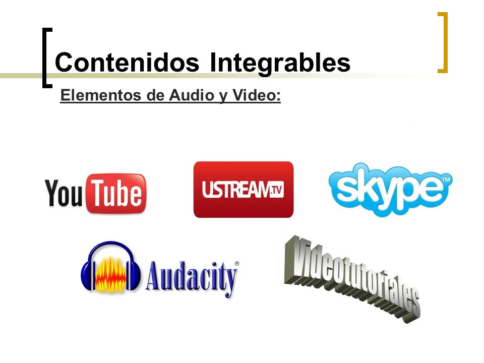 Contenidos Integrables