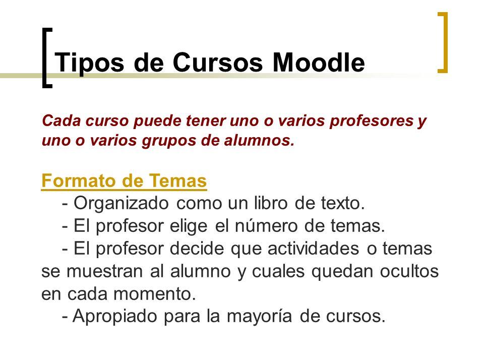 Tipos de Cursos Moodle Formato de Temas