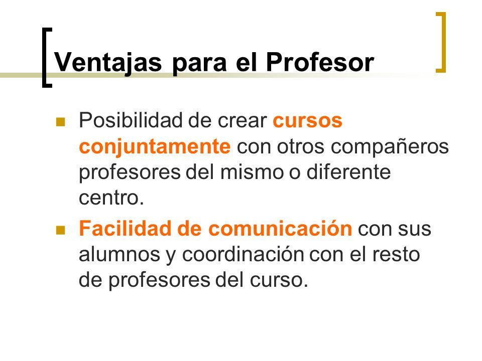 Ventajas para el Profesor