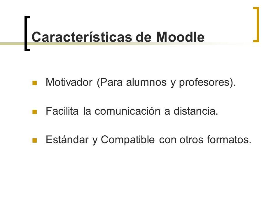 Características de Moodle