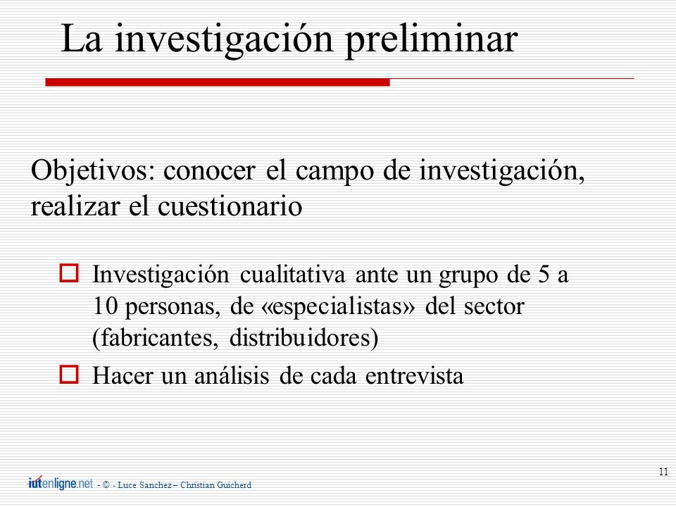 La investigación preliminar
