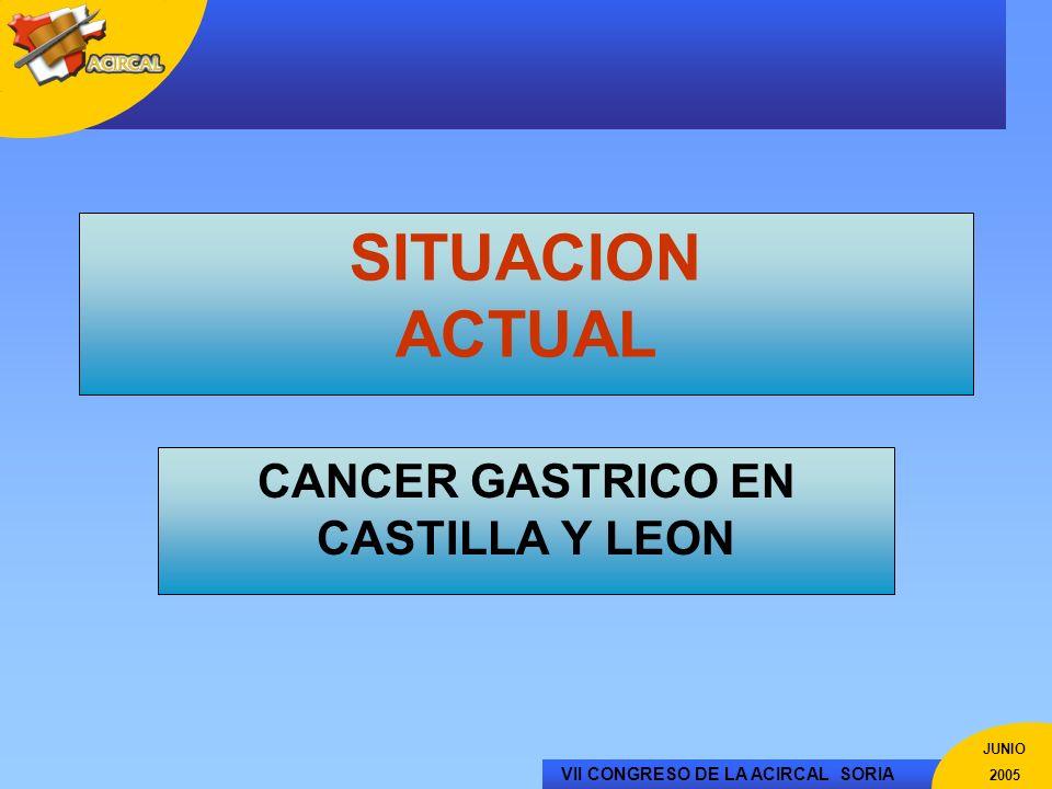 CANCER GASTRICO EN CASTILLA Y LEON
