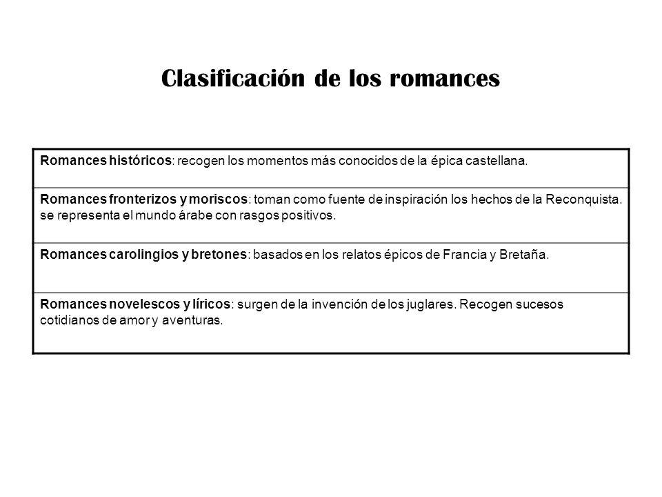 Clasificación de los romances