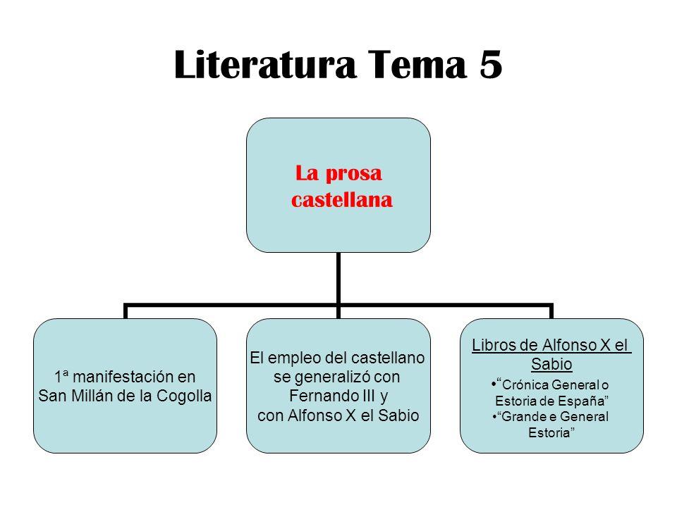 Literatura Tema 5