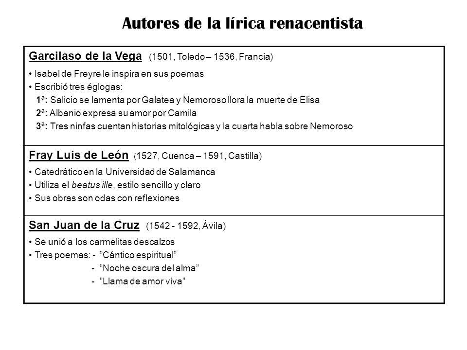 Autores de la lírica renacentista
