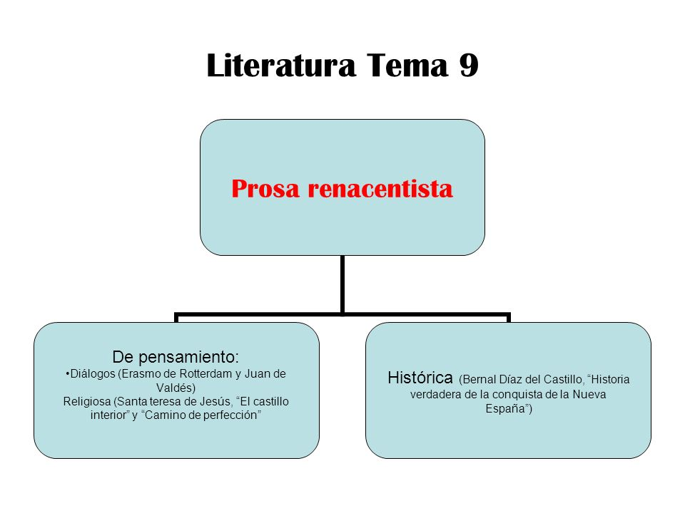 Literatura Tema 9