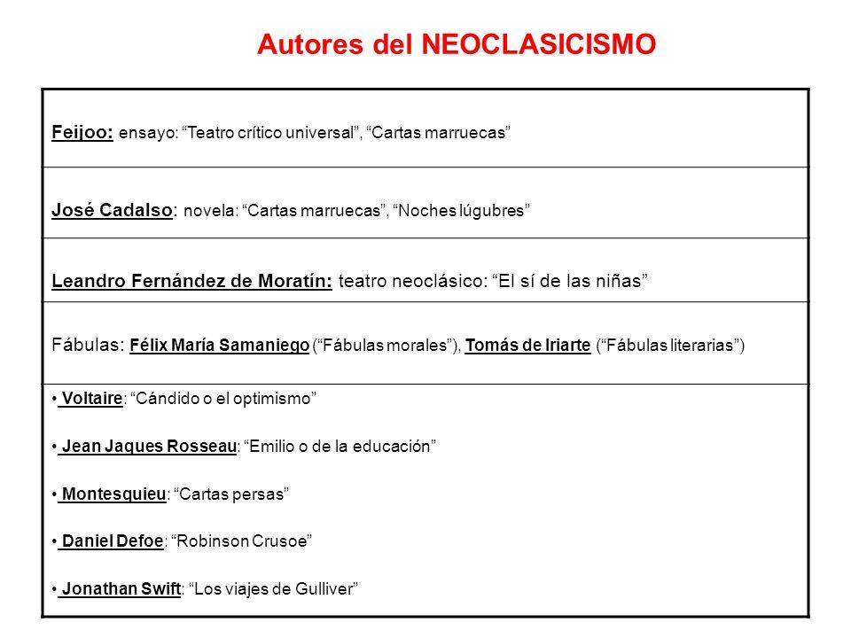 Autores del NEOCLASICISMO