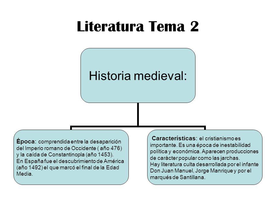 Literatura Tema 2