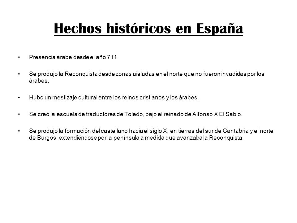 Hechos históricos en España