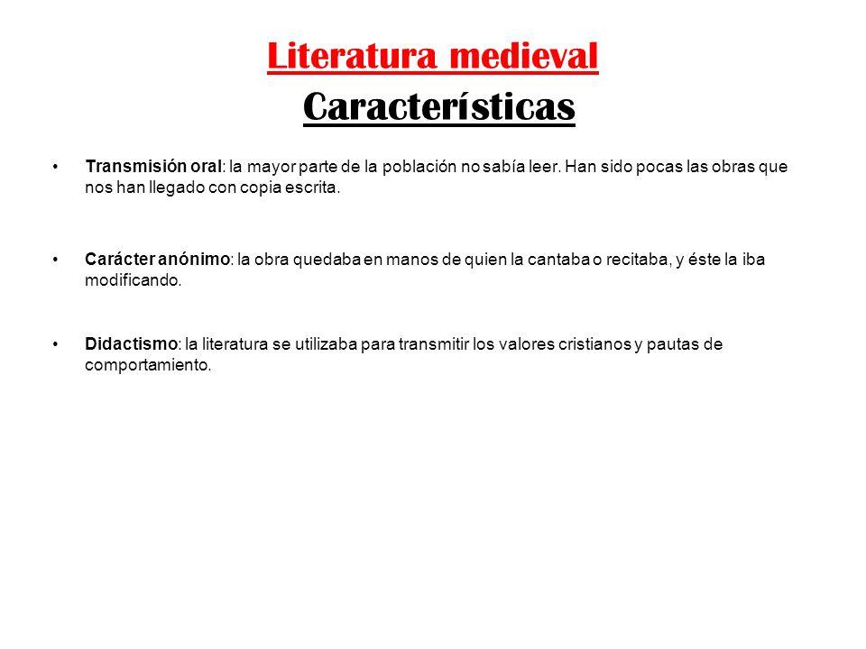 Literatura medieval Características