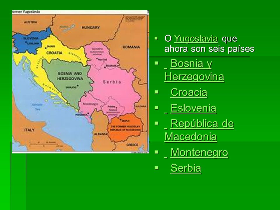 República de Macedonia Montenegro Serbia