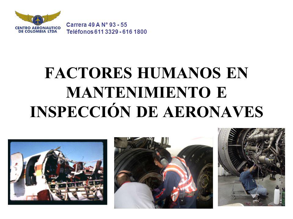 FACTORES HUMANOS EN MANTENIMIENTO E INSPECCIÓN DE AERONAVES