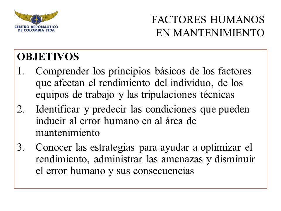 FACTORES HUMANOS EN MANTENIMIENTO