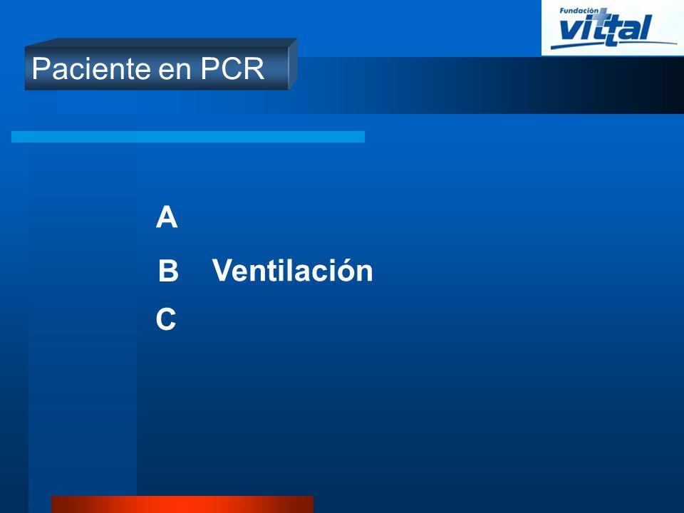 Paciente en PCR A B Ventilación C