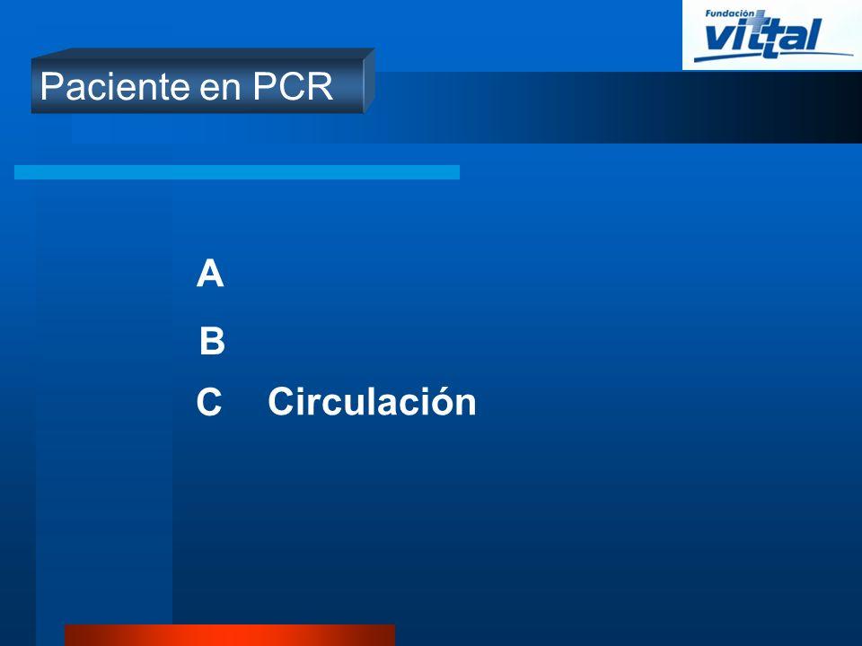 Paciente en PCR A B C Circulación