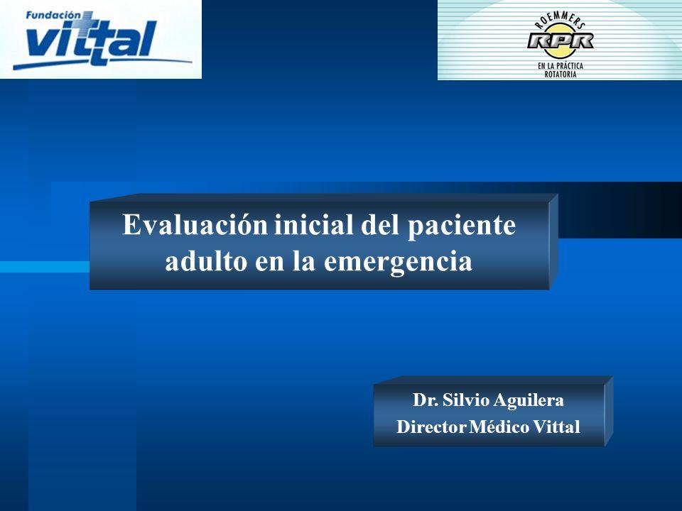 Evaluación inicial del paciente adulto en la emergencia