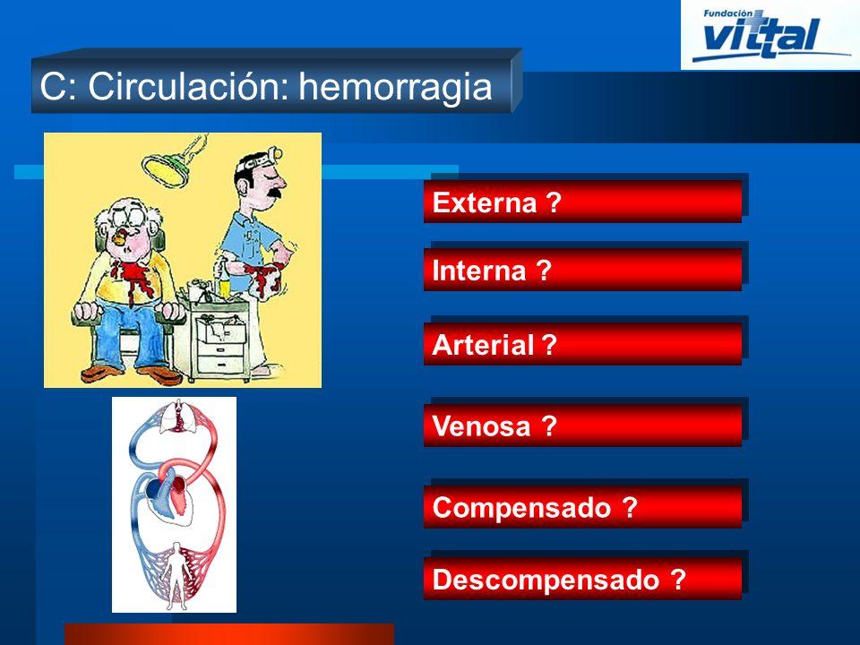 C: Circulación: hemorragia