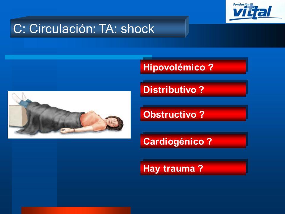 C: Circulación: TA: shock