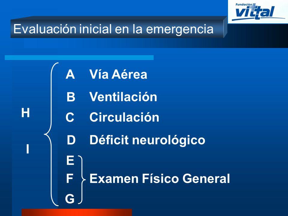 Evaluación inicial en la emergencia