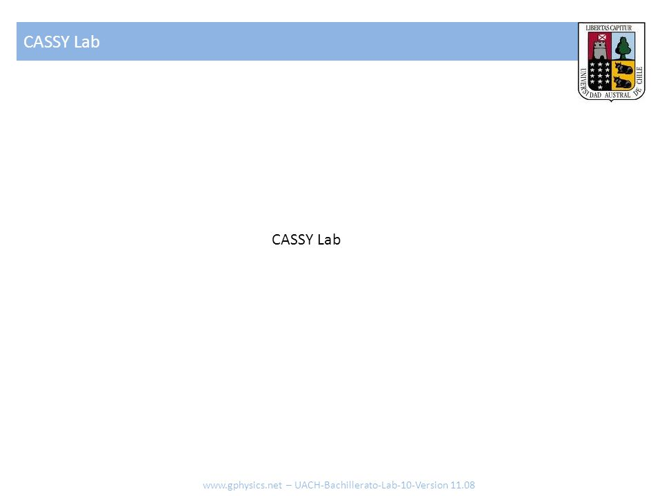 CASSY Lab CASSY Lab   – UACH-Bachillerato-Lab-10-Version 11.08