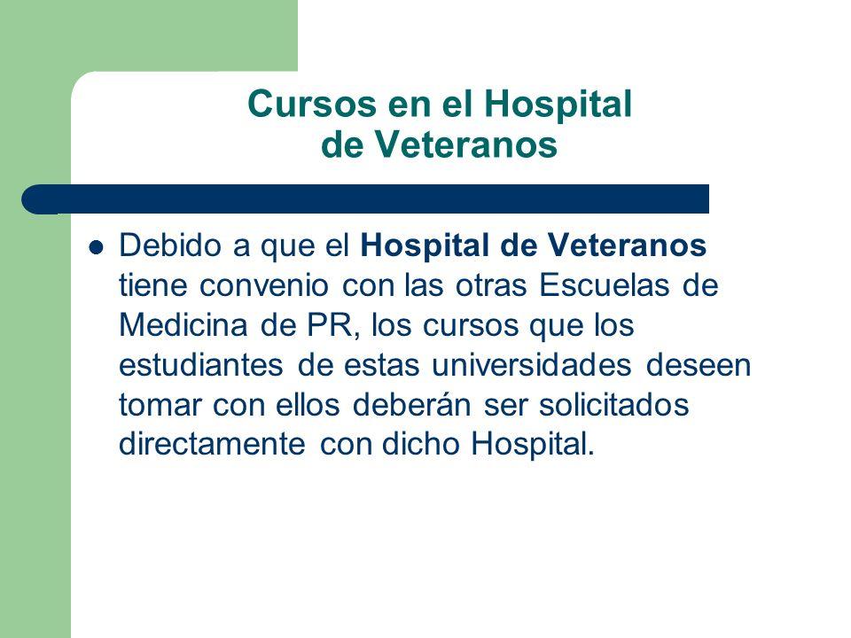 Cursos en el Hospital de Veteranos