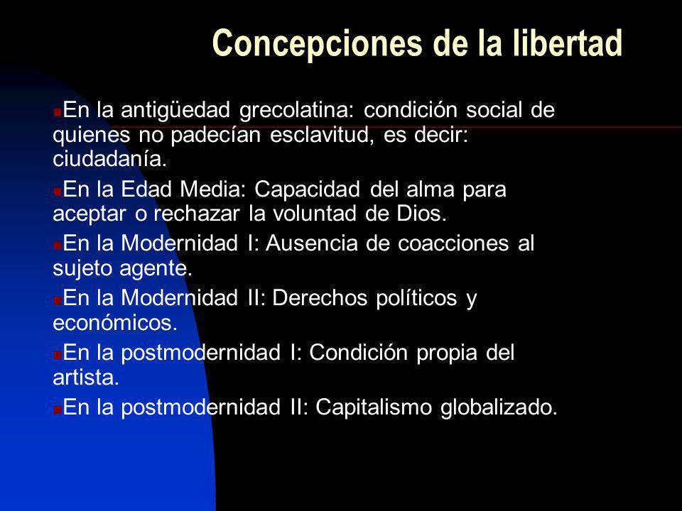 Concepciones de la libertad