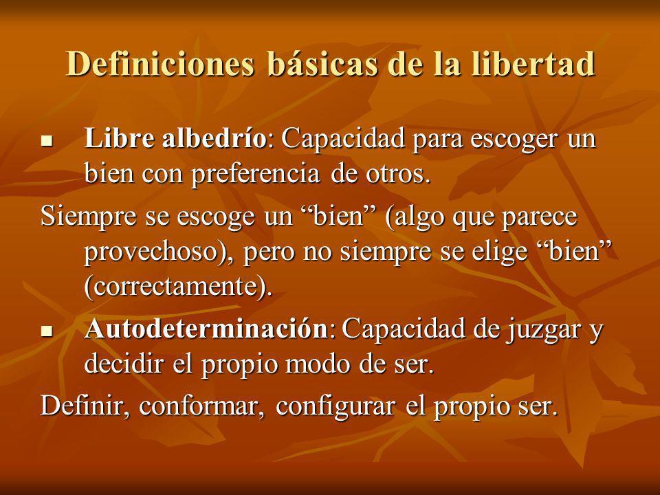 Definiciones básicas de la libertad