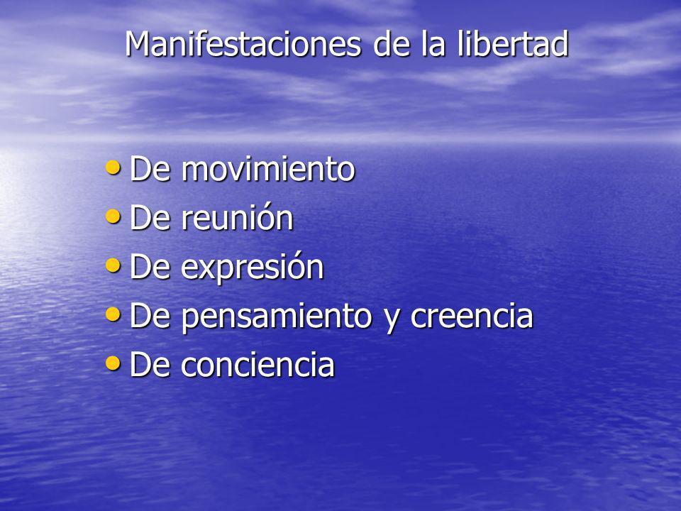 Manifestaciones de la libertad
