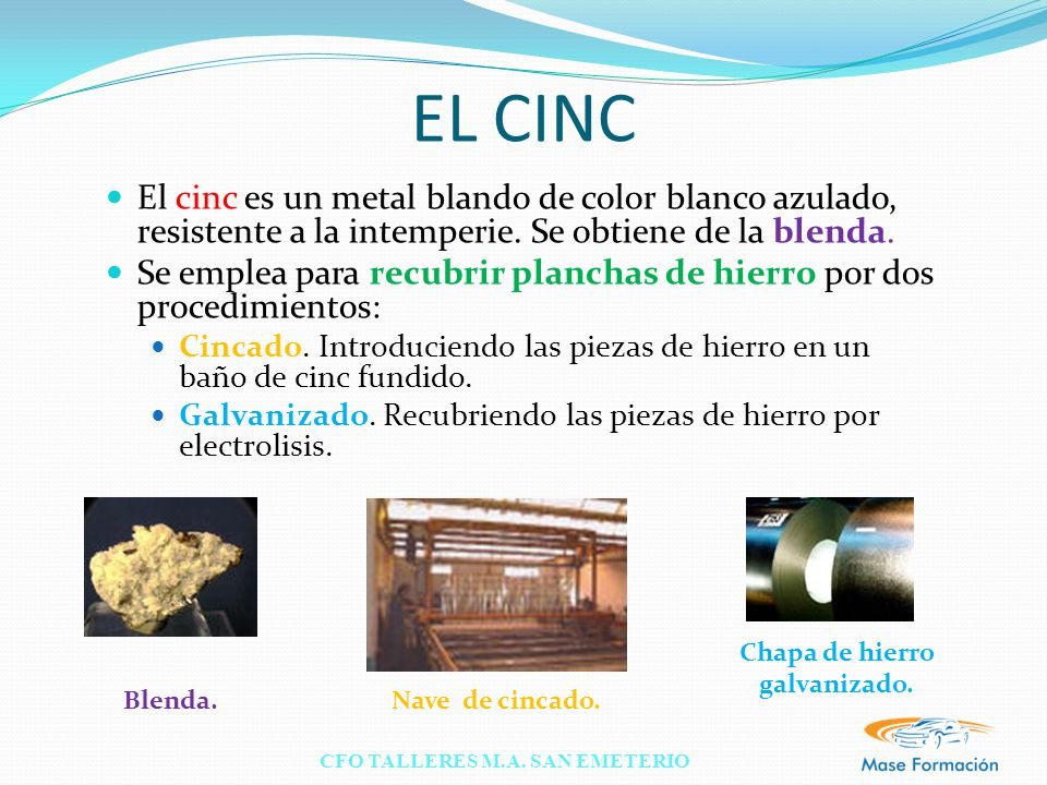 Materiales met licos ppt video online descargar - Chapas de hierro galvanizado ...