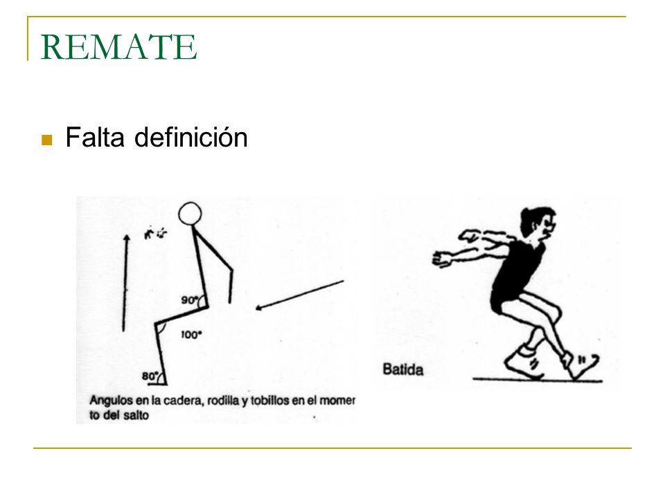 REMATE Falta definición